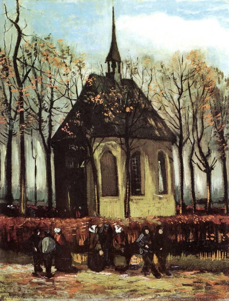 Выход из протестантской церкви в Нюэнене