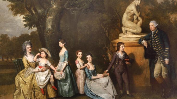Johann Zoffany The Matthew Family at Felix Hall