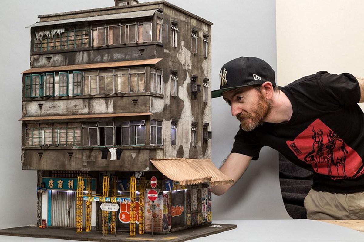 Скульптор создаёт уникальные миниатюрные трущобы