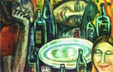 40.О.Голуб.Розмова на кухні.П.,о.,50х70, 1977