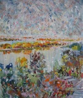 """Леся Корж """"Острови на світанку"""", 2013, полотно, олія, 6000Х5000"""
