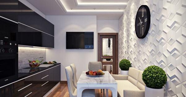 Декор стіни на кухні: основні нюанси, ідеї, матеріали