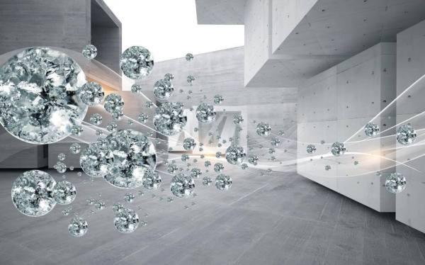 Фотообои Бриллиантовые сферы • Тематика: 3Д обои для зала ...