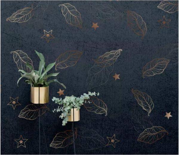 Фотообои Звёзды с листьями • Тематика: 3D фотообои | Арт обои