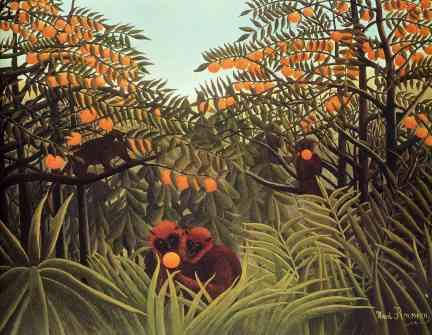 Apes-in-the-Orange-Grove-Henri-Rousseau