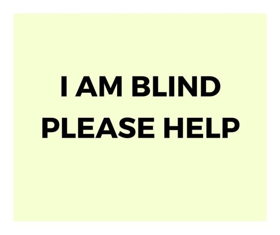 i am blind