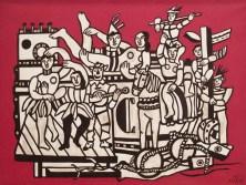 La Grande Parade sur fond rouge