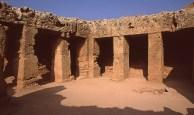 Una delle Tombe dei Re con luce del tramonto