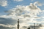 Tramonto con vista della Tour Eiffel