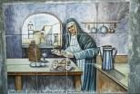 Maioliche raffiguranti la Suora che inventò le sfogliatelle