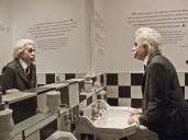 Statua di cera di Einstein amico e ospite di Chaplin