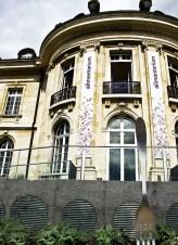 Dettaglio della facciata dell'Alimentarium