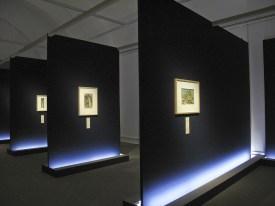 La sala dedicata alle cascate di Hokusai
