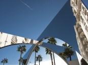 Riflessi di palme specchiate sulla Croisette