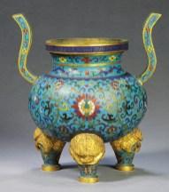 Vaso smaltato, Dinastia Qing