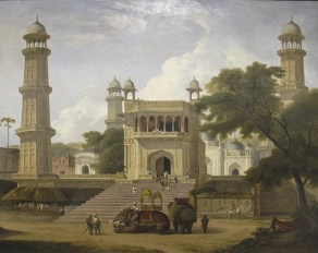 Thomas Daniell, A view of an Indian temple said to be the Mosque of Abo-ul-Nabi, Muttra