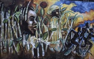 Murale sulla storia degli schiavi