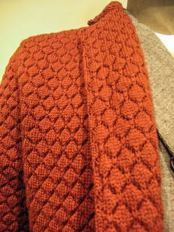 Dettaglio giacca maschile di lana