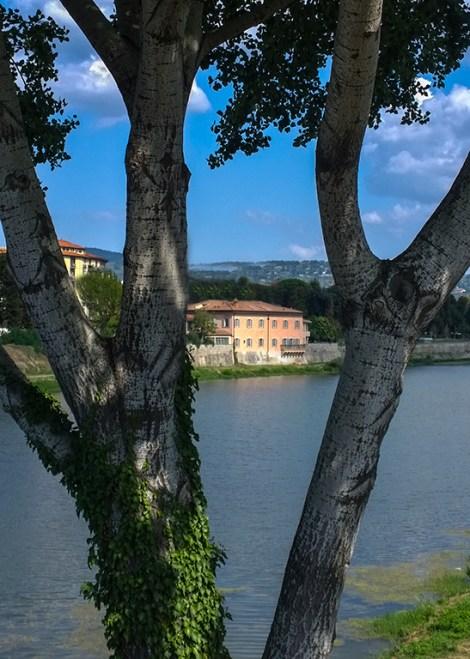 Ville sull'Arno dal ponte
