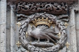 Stemma Valle della Loira con porcospino e corona