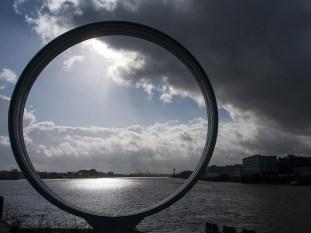 Nantes scultura sull'Estuario