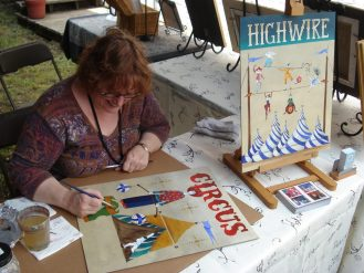 """Katharine Gracey paints a fresh addition to new """"Circus"""" series"""