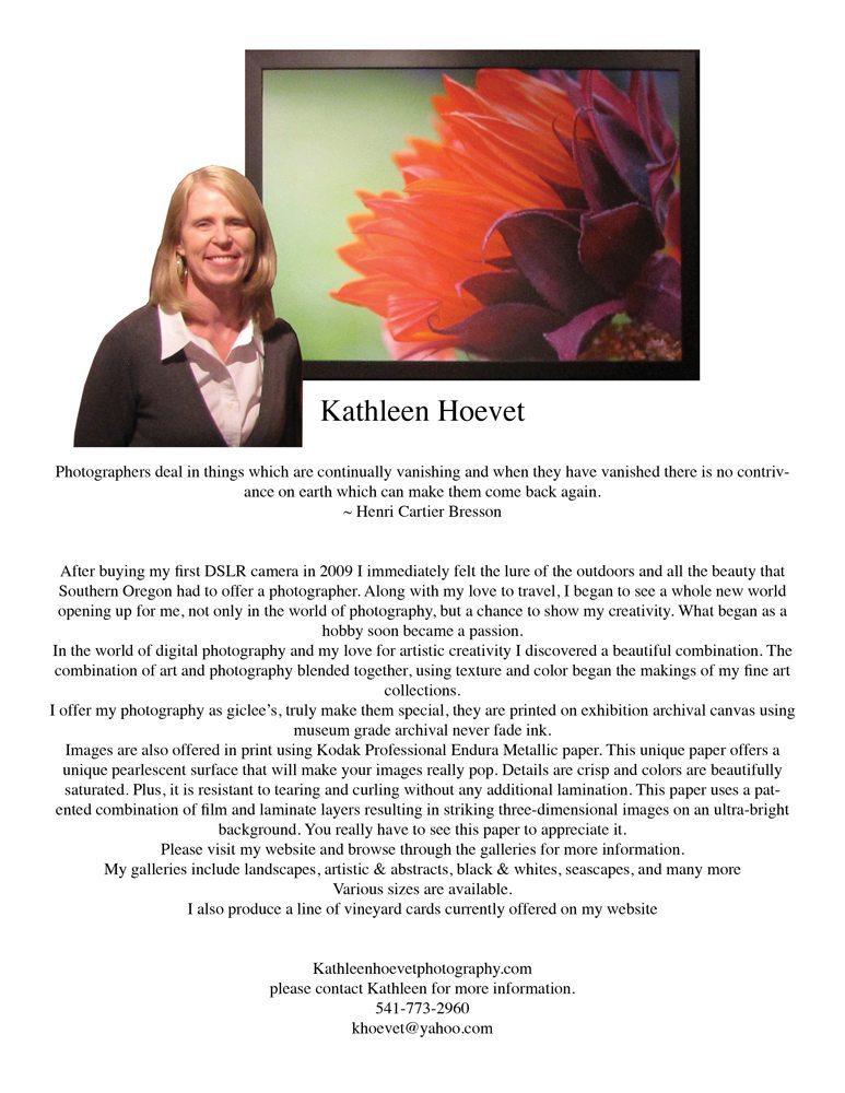 Art Presence Member Profile: Photographer Kathleen Hoevet