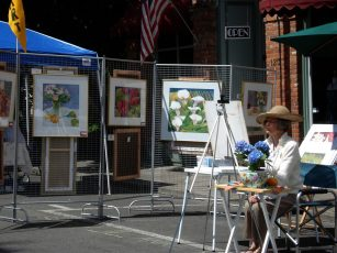 Anne Brooke - Artist Exhibit and Demo on 3rd Street at the Taste of Summer Festival 2012