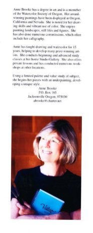 Art Presence Member Profile: Painter and Art Presence Founder Anne Brooke