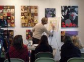 Art Presence Founder Anne Brooke demonstrates Watercolor painting