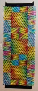 An example of the fiber art that won Kathy Fennel Juror's Choice in this show.