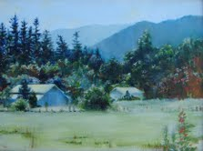 Image of Painting: Applegate Valley - Katherine Dyson Lundgren