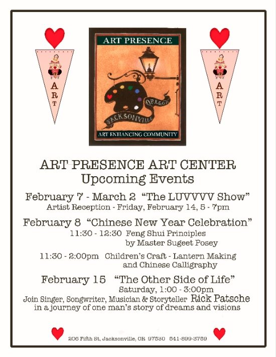 ARt PResence February 2014 Art Exhibits and Events