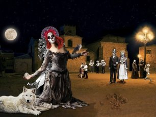 """La Loba"" Photoshop montage by Christy French"