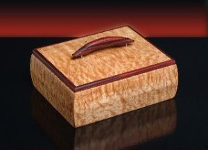 Handcrafted wooden box by Bruce Millbank