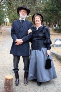 Players from the Friends of the Jacksonville Historic Cemetery in costume