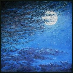 Night Flight, oil painting by Bill Stanton
