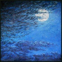 Night Flight, oil painting by Bill Stanton
