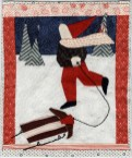 The Sled Ride, needlework by Katharine Gracey