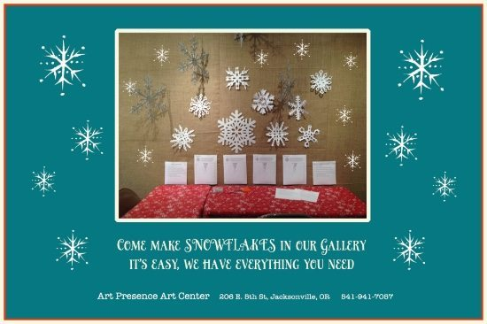 Snowflake Making Class at Art Presence Art Center, Jacksonville, Oregon