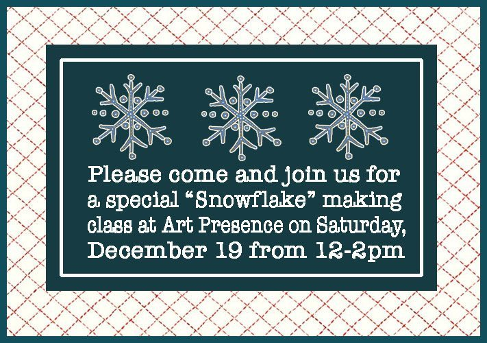 Snowflake Making Class at Art Presence Art Center, Jacksonville, Oregon