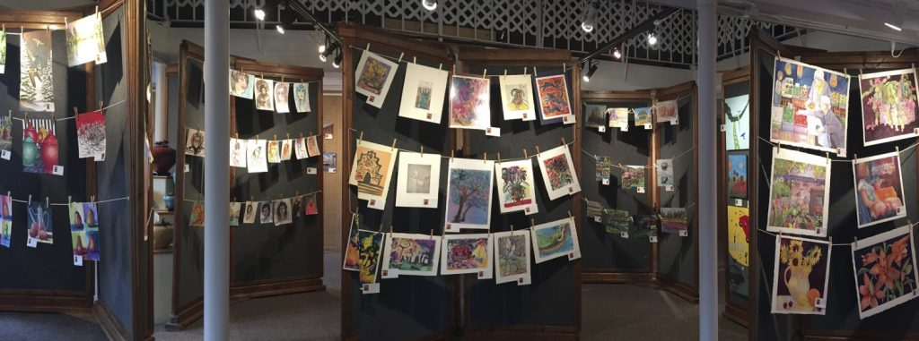 Naked Art: No Mats, No Frames ~ Great Deals! at Art Presence Art Center, Jacksonville, Oregon. Image by Tom Glassman