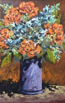 Flowers, oil by Bill Stanton