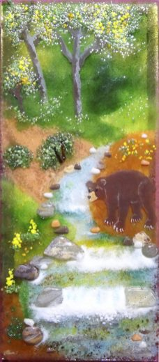 """Along the Stream,"" glass art by Jessy Carrara"
