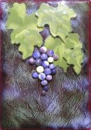 """Veraison Evening,"" glass art by Jessy Carrara"