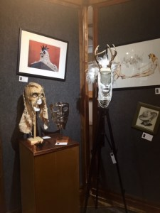 October Imaginarium: Hats & Masks - paintings, masks and hats included in this year's exhibition