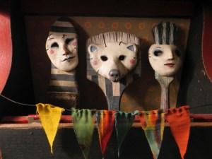 October Imaginarium: Hats & Masks Reception - Leona Sewitsky - Trilogy of Masks