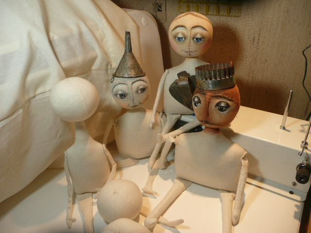 Renovations Underway : Dolls from the studio of Patricia Wormuth in progress
