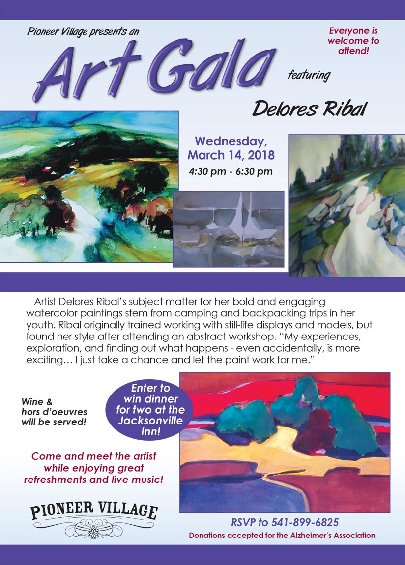 Art Gala at Pioneer Village for artist Delores Ribal