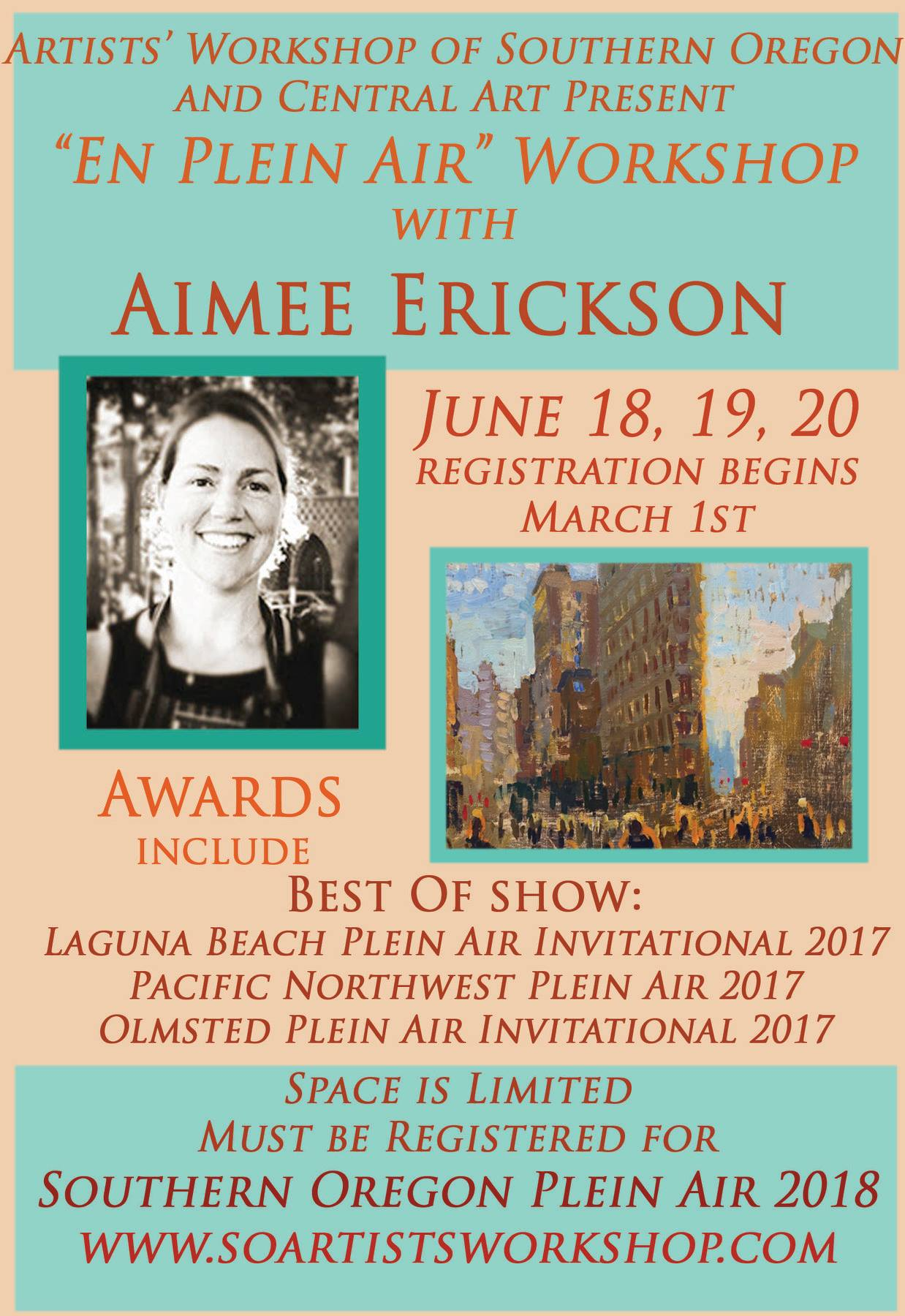 Upcoming plein air workshops - En Plein Air with Aimee Erickson